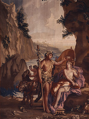 "Picture: Section from the tapestry ""Bacchus and Ariadne"""