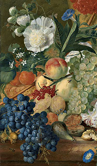 "Picture: ""Fruit and flowers"", Jan van Huysum"