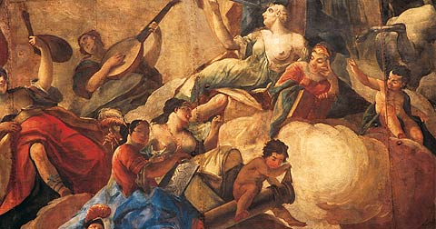 Picture: Section from the ceiling painting depicting the muses
