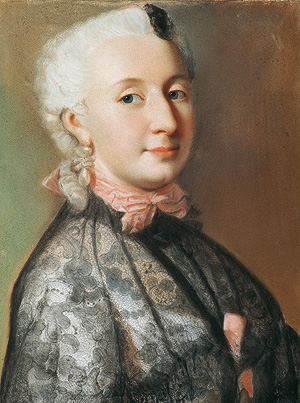 Picture: Wilhelmine von Bayreuth, pastel drawing